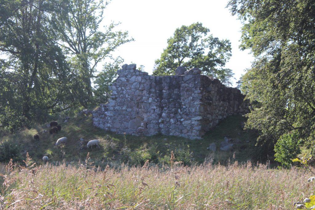 Ruin efter Stenhusholmens Sätesgård från 1400-talet.